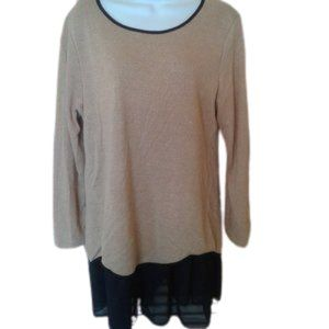Gold Color Tunic Sweater Fits XL NWOT